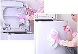 洗濯機の拭きあげ・洗濯機本体のフタ、トップカバー、外装表面を拭き上げます。